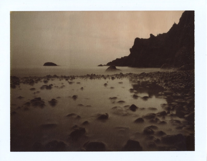 cocoa lines written in early fall      .      ( polaroid chocolate100 expired )