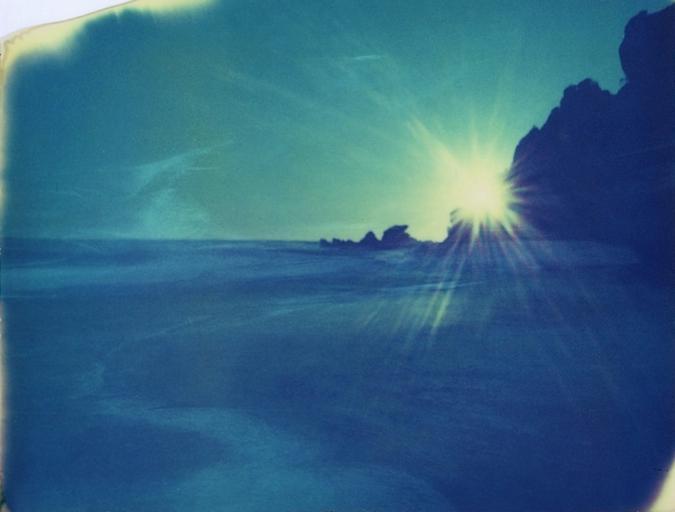 quest for ultramarine blue .  ( polaroid 669  exp. )
